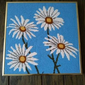 Other - Cross Stitch Artwork Daisy Flower Picture